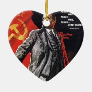 レーニン-ロシアのな共産主義者 セラミックオーナメント
