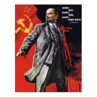 レーニン-ロシアのな共産主義者 ポストカード