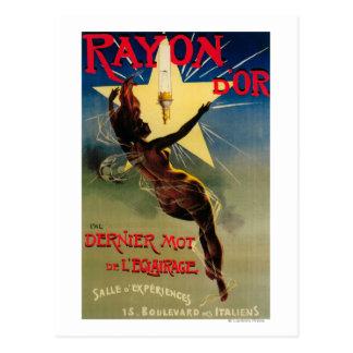 レーヨンD'Orのレストランの昇進ポスター ポストカード