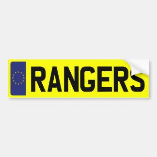 レーンジャーのナンバープレート バンパーステッカー