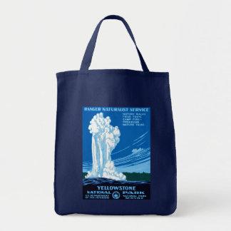 レーンジャーの博物学者サービス~イエローストーン トートバッグ