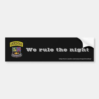 レーンジャー、私達は夜を支配します バンパーステッカー