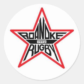 ロアノークのラグビーの円形のステッカー 丸形シール・ステッカー