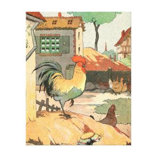 ロアールの農家のオンドリ キャンバスプリント