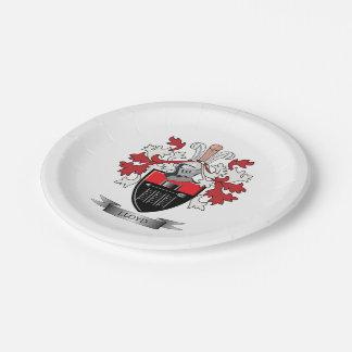 ロイドの家紋の紋章付き外衣 ペーパープレート