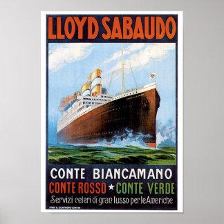 ロイドSabaudo Comte Biancamano ポスター