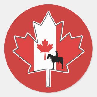 ロイヤリティおよび名誉のカナダ日のステッカー ラウンドシール