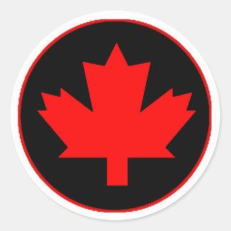 ロイヤリティのカナダ日のステッカー ラウンドシール