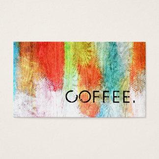 ロイヤリティのコーヒー穿孔器のカラフルでモダンな木製の一見#22 名刺