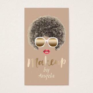 ロイヤリティのパンチカード|のモダンで自然な毛の化粧 名刺