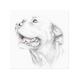 ロイヤリティ、アメリカ(犬)スタッフォードテリア キャンバスプリント