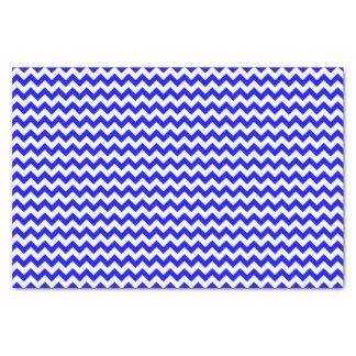 ロイヤルブルーおよび白のシェブロンパターン習慣 薄葉紙