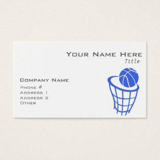 ロイヤルブルーおよび白のバスケットボール 名刺