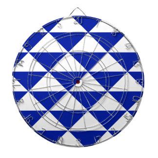 ロイヤルブルーおよび白の三角形 ダーツボード