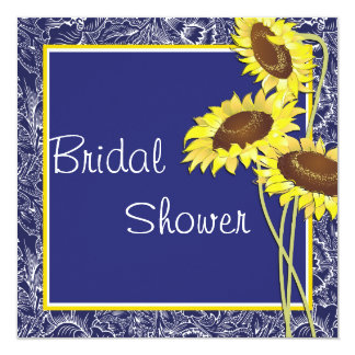 Royal Blue and Yellow Sunflowers Bridal Shower