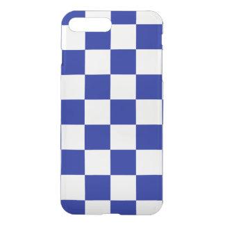 ロイヤルブルーそして白いチェック模様のパターン iPhone 8 PLUS/7 PLUS ケース