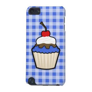 ロイヤルブルーのアイシングが付いているかわいいカップケーキ iPod TOUCH 5G ケース
