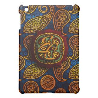 ロイヤルブルーのペイズリー iPad MINI カバー