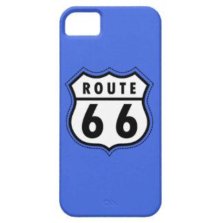 ロイヤルブルーのルート66の交通標識 iPhone SE/5/5s ケース