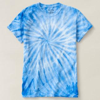 ロイヤルブルーの女性のサイクロンの絞り染めのTシャツ Tシャツ