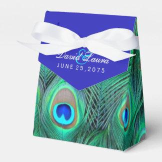 ロイヤルブルーの孔雀の結婚式 フェイバーボックス