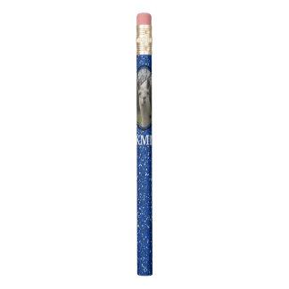 ロイヤルブルーの明るいNのきらめくなラマ 鉛筆