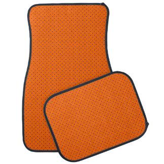 ロイヤルブルーの点とオレンジカーマット カーマット