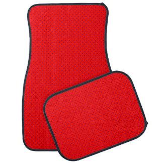 ロイヤルブルーの点と赤いカーマット カーマット