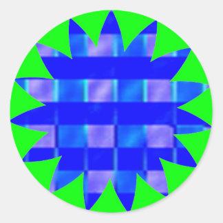 ロイヤルブルーの点検の正方形 ラウンドシール