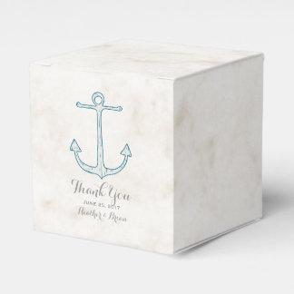 ロイヤルブルーの素朴ないかりの結婚式 フェイバーボックス