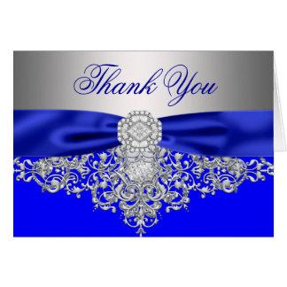 ロイヤルブルーの銀のダイヤモンドは感謝していしています カード