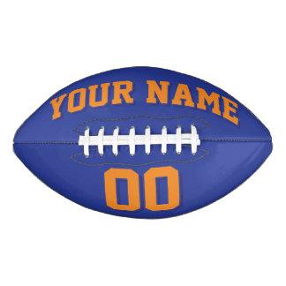 ロイヤルブルーオレンジおよび海軍習慣のフットボール アメリカンフットボール