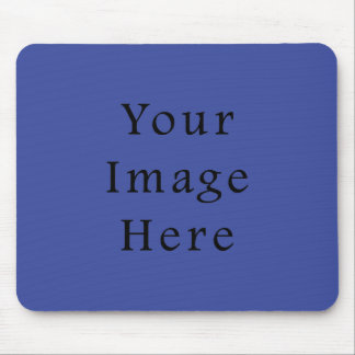 ロイヤルブルー色の傾向のブランクのテンプレート マウスパッド