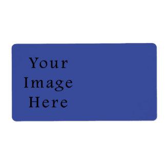 ロイヤルブルー色の傾向のブランクのテンプレート ラベル