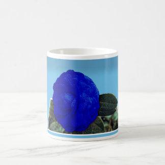 ロイヤルブルー3Dはマグに上がりました コーヒーマグカップ