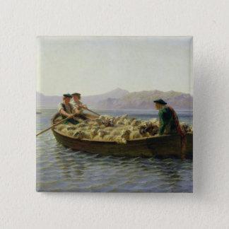 ロウイングボート1863年 5.1CM 正方形バッジ