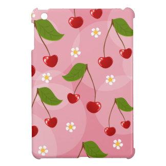 ロカビリーのさくらんぼパターン iPad MINIカバー