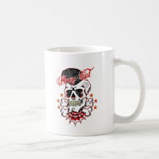 ロカビリーのスカル コーヒーマグカップ