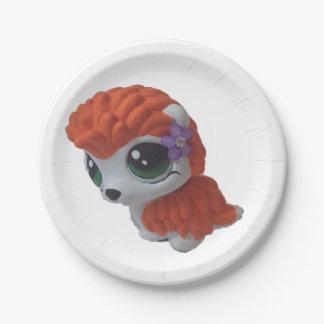 ロカビリーのハリネズミの紙皿 ペーパープレート