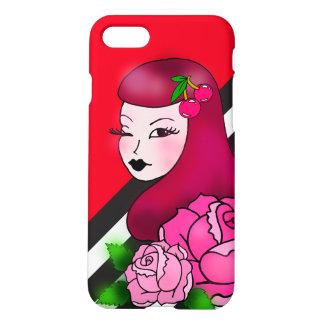 ロカビリーのバラのiPhoneの場合 iPhone 7ケース