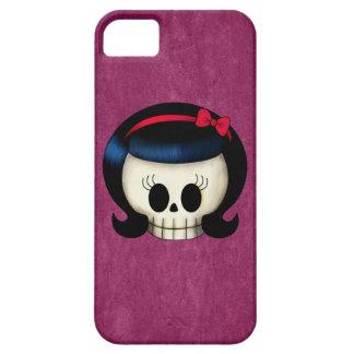 ロカビリーの女の子のスカル iPhone 5 COVER