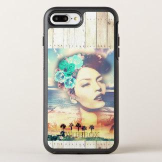 ロカビリーカリフォルニアやし沿岸夏の女性 オッターボックスシンメトリーiPhone 8 PLUS/7 PLUSケース