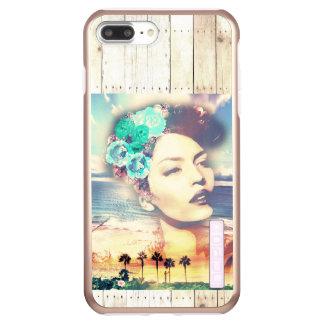 ロカビリーカリフォルニアやし沿岸夏の女性 INCIPIO DualPro SHINE iPhone 8 PLUS/7 PLUSケース