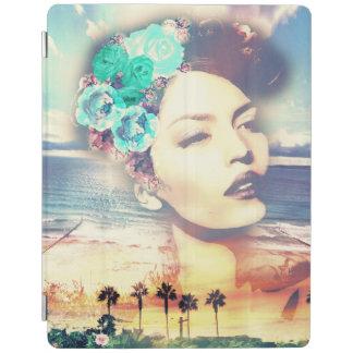 ロカビリーカリフォルニアやし沿岸夏の女性 iPadスマートカバー