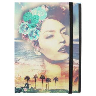 """ロカビリーカリフォルニアやし沿岸夏の女性 iPad PRO 12.9"""" ケース"""