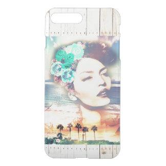 ロカビリーカリフォルニアやし沿岸夏の女性 iPhone 8 PLUS/7 PLUS ケース