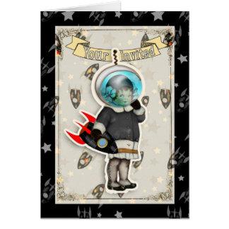 ロケットの女の子 グリーティングカード