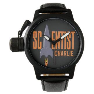 ロケットの科学者の名前をカスタムするの腕時計 腕時計