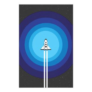 ロケットの船は青い惑星を過ぎて飛びます 便箋