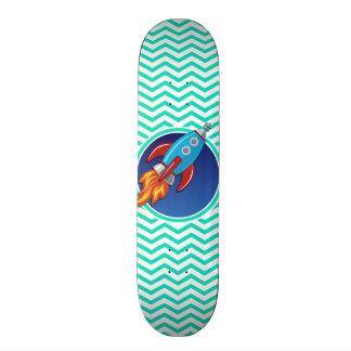 ロケットの船; 水緑のシェブロン スケートボード